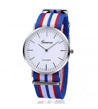 Reloj Correa Nylon Azul-Rojo-Blanco